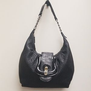FENDI Pebbled Leather Shoulder Bag